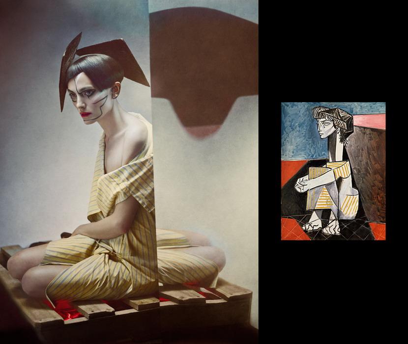 将毕卡索的抽象画变成摄影作品4