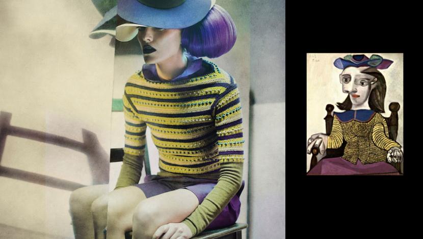 将毕卡索的抽象画变成摄影作品6