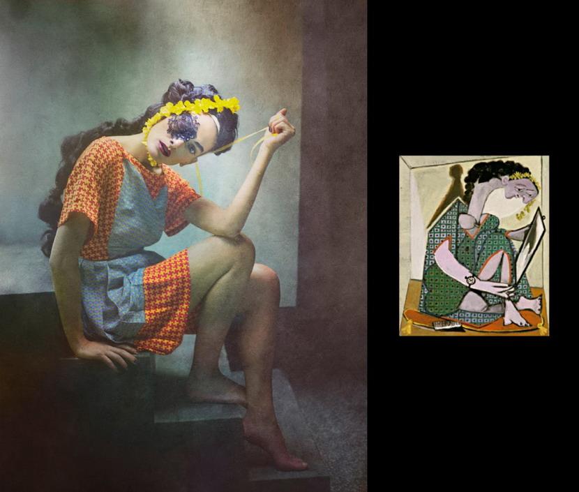 将毕卡索的抽象画变成摄影作品5