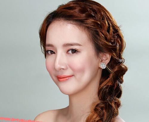 2015韩式新娘发型图片
