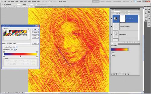 Photoshop将照片转成手绘素描画12