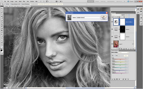 Photoshop将照片转成手绘素描画6