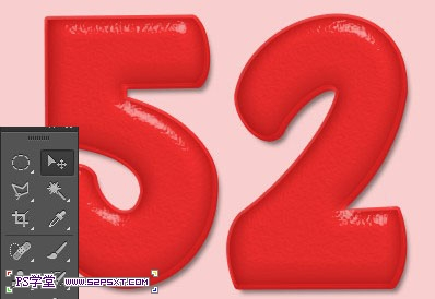 PS制作超级可爱的草莓字体特效14
