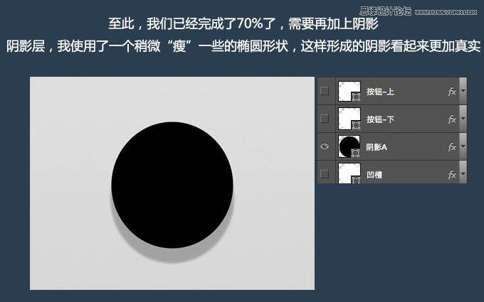 Photoshop制作立体效果的UI开关按钮20