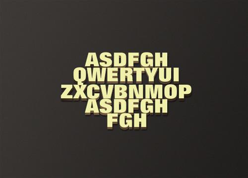 PhotoShop图层样式简单制作3D立体字效果教程1