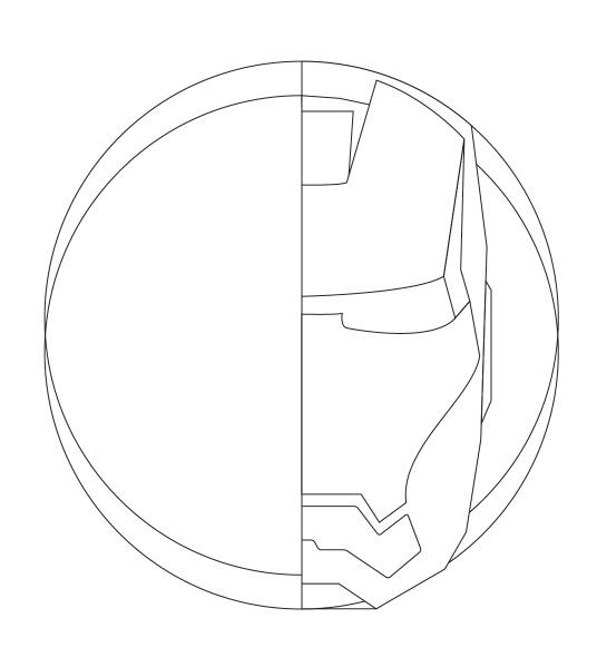 Photoshop绘制金属质感的钢铁侠头像4