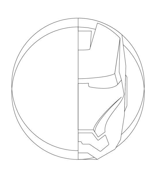 Photoshop绘制金属质感的钢铁侠头像5