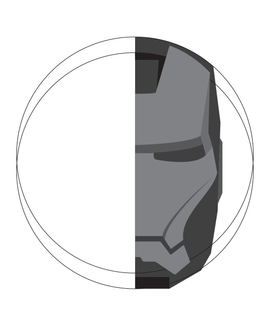 Photoshop绘制金属质感的钢铁侠头像6