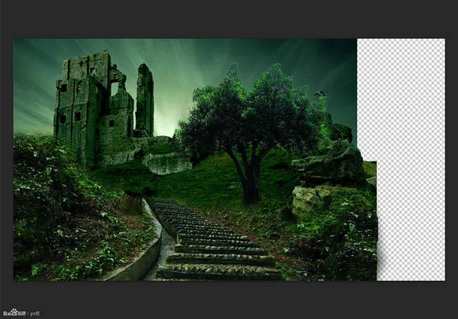 PS合成森林中的阴森古堡27