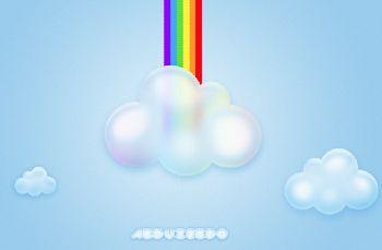 PhotoShop绘制卡通云朵教程1