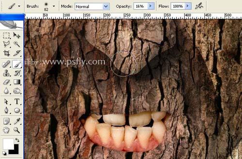 Photoshop合成科幻片中的树人魔怪16