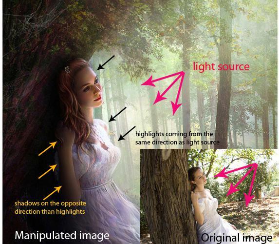 Ps合成技巧之光线和阴影2