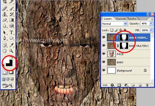 Photoshop合成科幻片中的树人魔怪12
