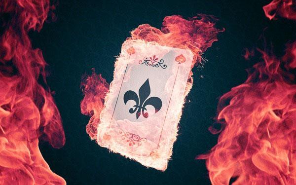 Photoshop合成魔法火焰的扑克牌1