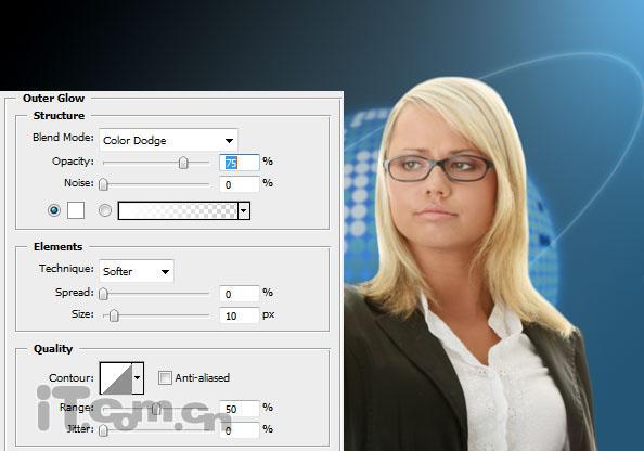 Photoshop合成电影中科技通讯效果9