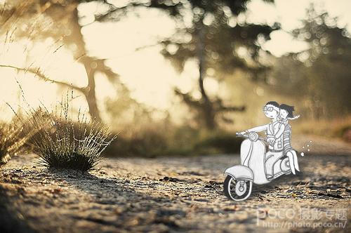 ps设计制作可爱的卡通剪纸人物场景教程