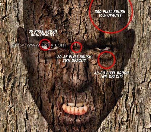 Photoshop合成科幻片中的树人魔怪22