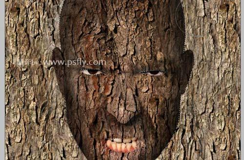 Photoshop合成科幻片中的树人魔怪18