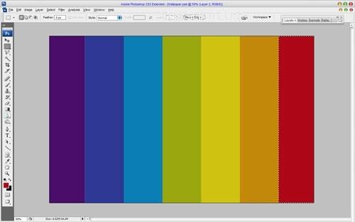 Photoshop打造漂亮的三维彩虹效果壁纸4