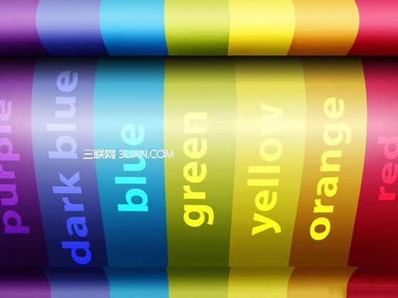 Photoshop打造漂亮的三维彩虹效果壁纸1
