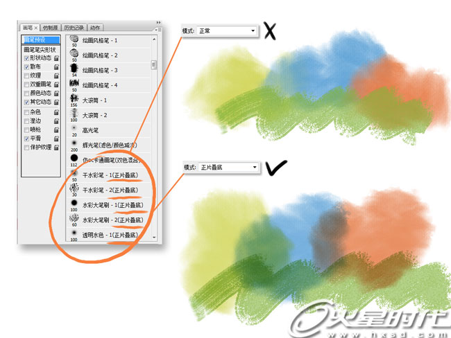 PS笔刷运用教程:Blur's good brush详细使用教程3