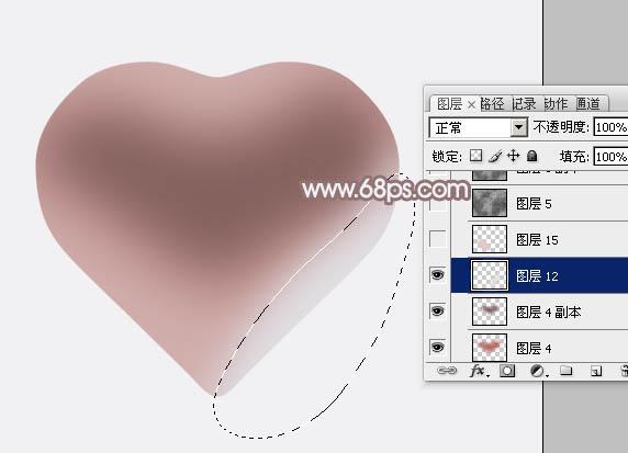用PS制作一颗漂亮的粉色立体心形6