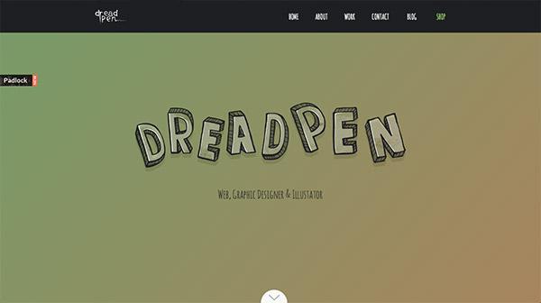 """20个创意迸发的""""大手笔""""字体网站16"""
