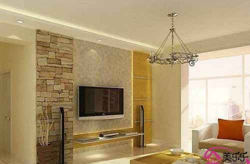 客厅液晶电视背景墙装修效果图4