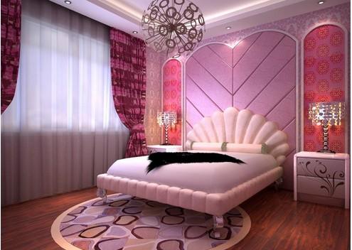 婚房卧室颜色搭配 粉色婚房搭配