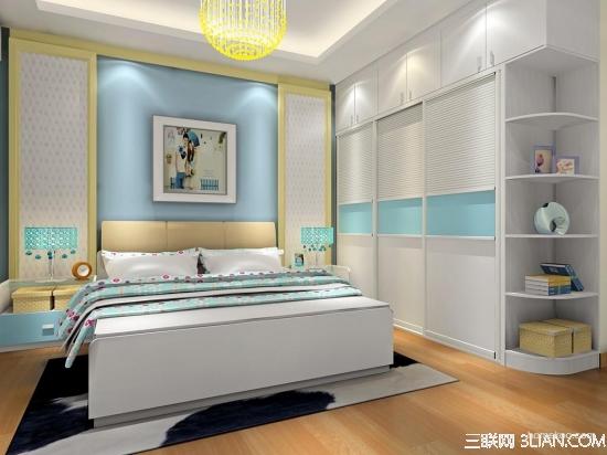 简约大气小清新卧室设计效果图