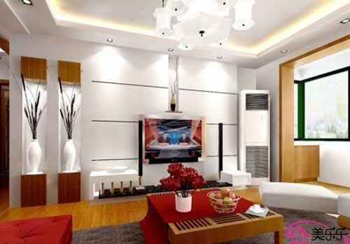 客厅液晶电视背景墙装修效果图2