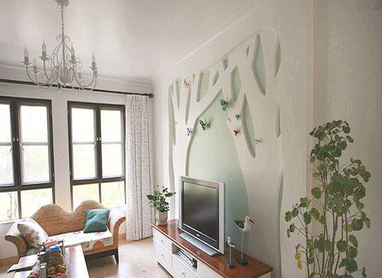 地中海风格背景墙装修,让你感受浪漫气息5