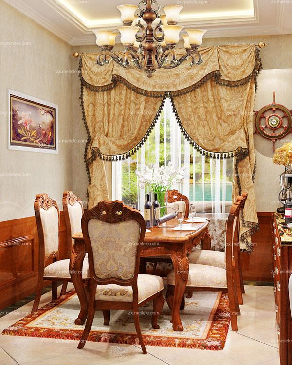 客厅装修效果图案例,打造贵气美式风格3