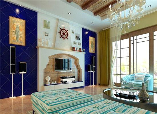 地中海风格背景墙装修,让你感受浪漫气息4