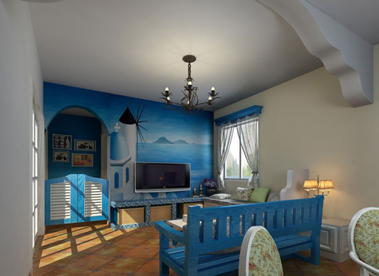 地中海风格背景墙装修,让你感受浪漫气息7