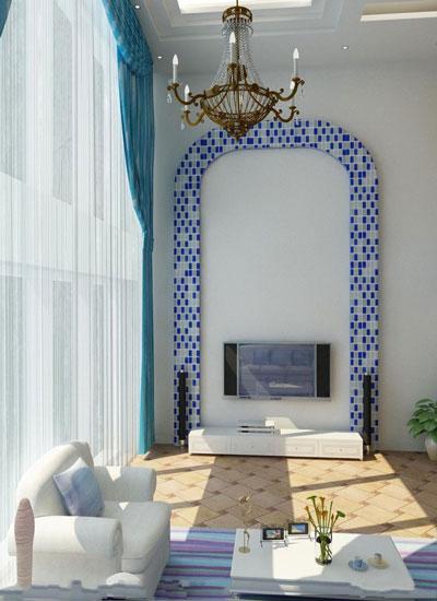 地中海风格背景墙装修,让你感受浪漫气息9