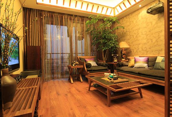 小户型中的静谧东南亚装修风格3