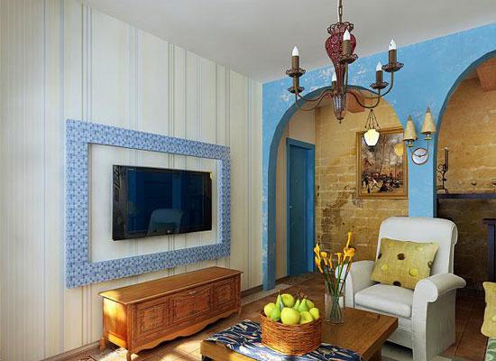 地中海风格背景墙装修,让你感受浪漫气息2