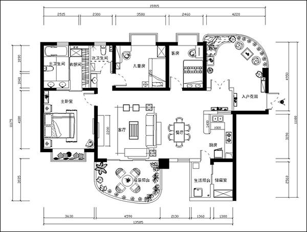 130平三居室装修之绿色东南亚的奇妙之旅2
