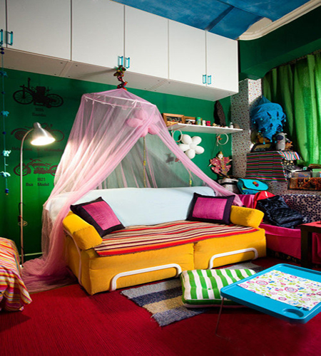 缤纷童话小空间儿童房设计效果图2