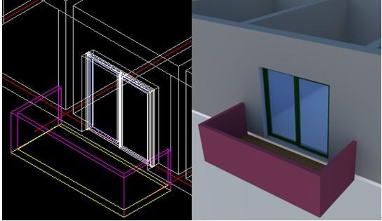 浩辰CAD建筑教程之阳台绘制4