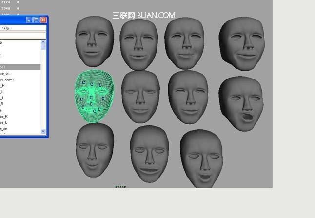 Maya制作脸部表情的动画教程8
