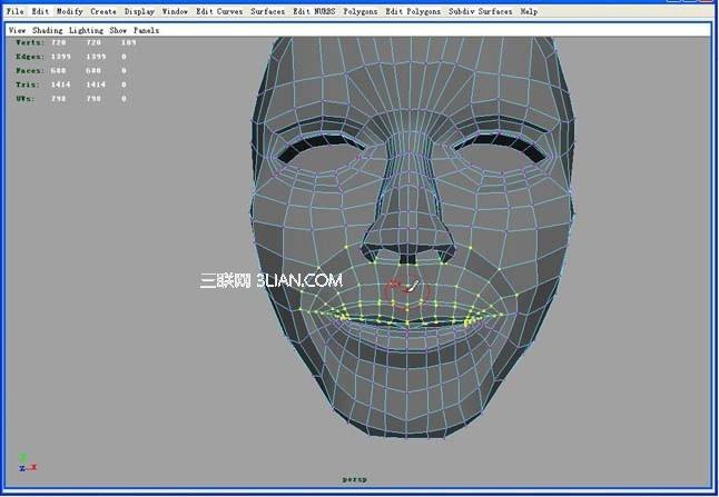 Maya制作脸部表情的动画教程1