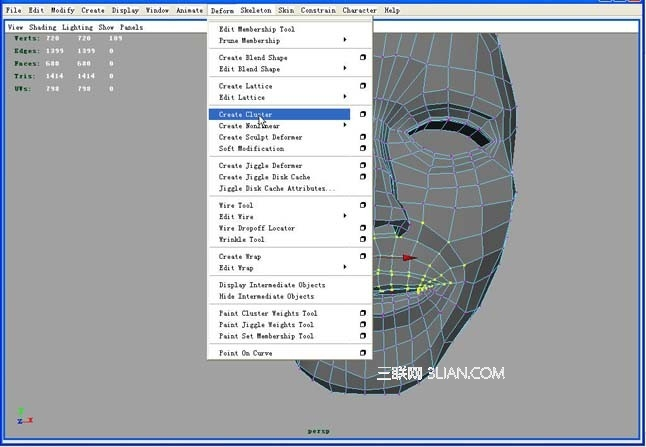 Maya制作脸部表情的动画教程2