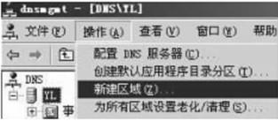 DNS服务器中创建正向查找区域的操作步骤1