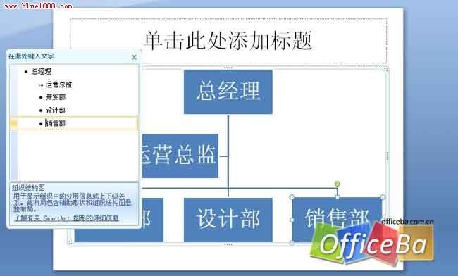 用PPT2007绘制组织架构3