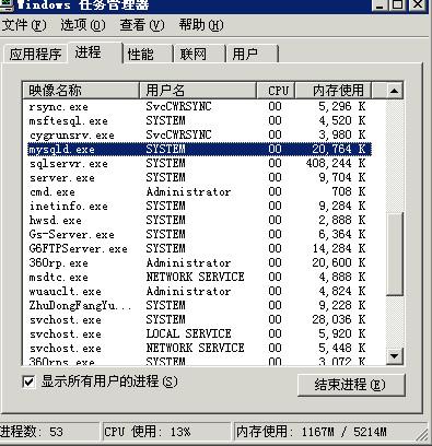 mysql数据库root密码忘记的修改方法2