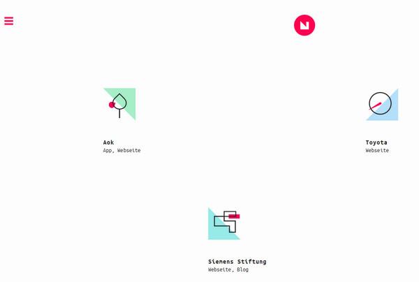 20个炫酷好玩儿的网页导航设计10