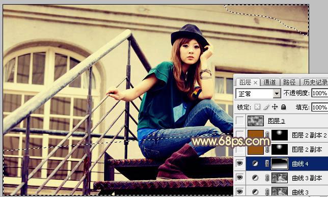 Photoshop打造古典Lomo风格建筑美女图片21
