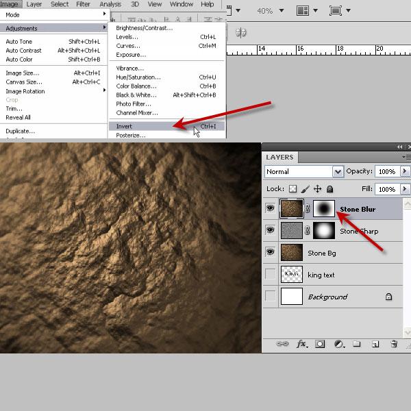 利用滤镜及图层样式制作超酷的褐色岩石字24